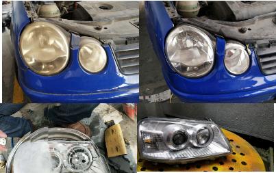 汽车大灯纳米修复技术,还车灯往日明亮风姿