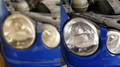 汽车大灯灯罩发黄修复,学会这个技巧轻松解决