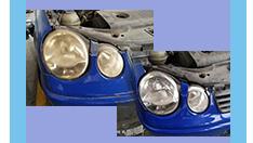 【喷涂处理车灯异常问题】专业翻新处理,效果可见一斑