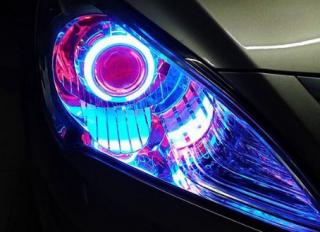 汽车大灯升级改装天使眼,无比亮眼的颜值体现